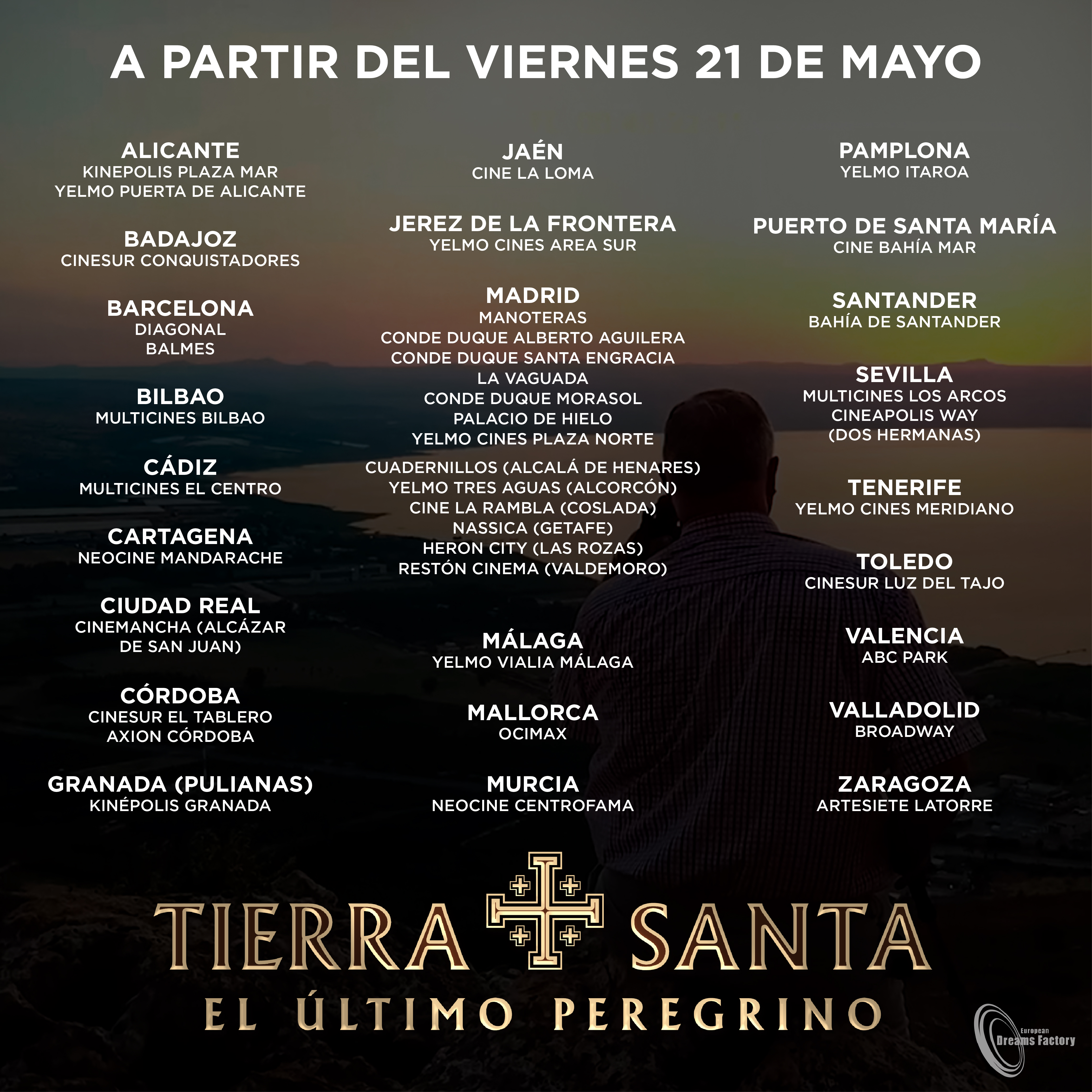 Cartelera cines Tierra Santa El último peregrino