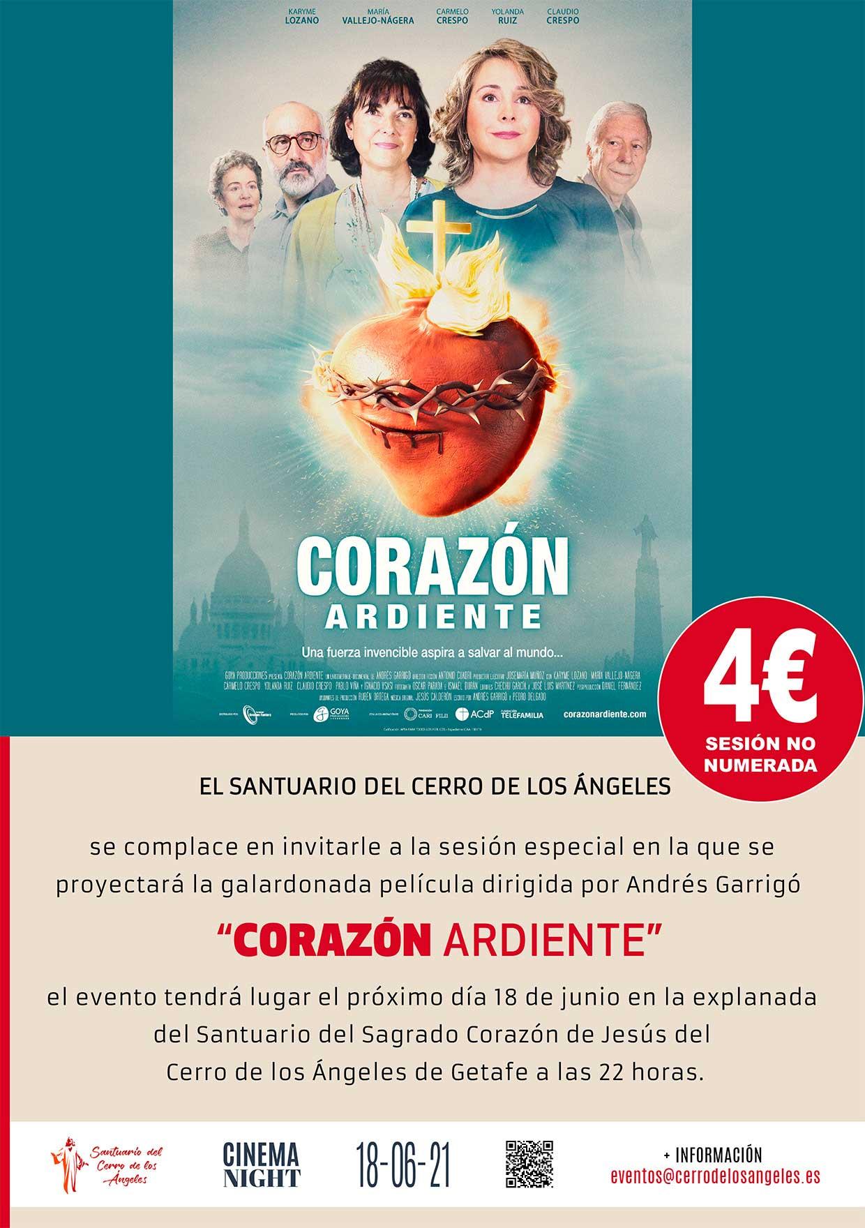 """Pase especial de la película """"Corazón Ardiente"""""""